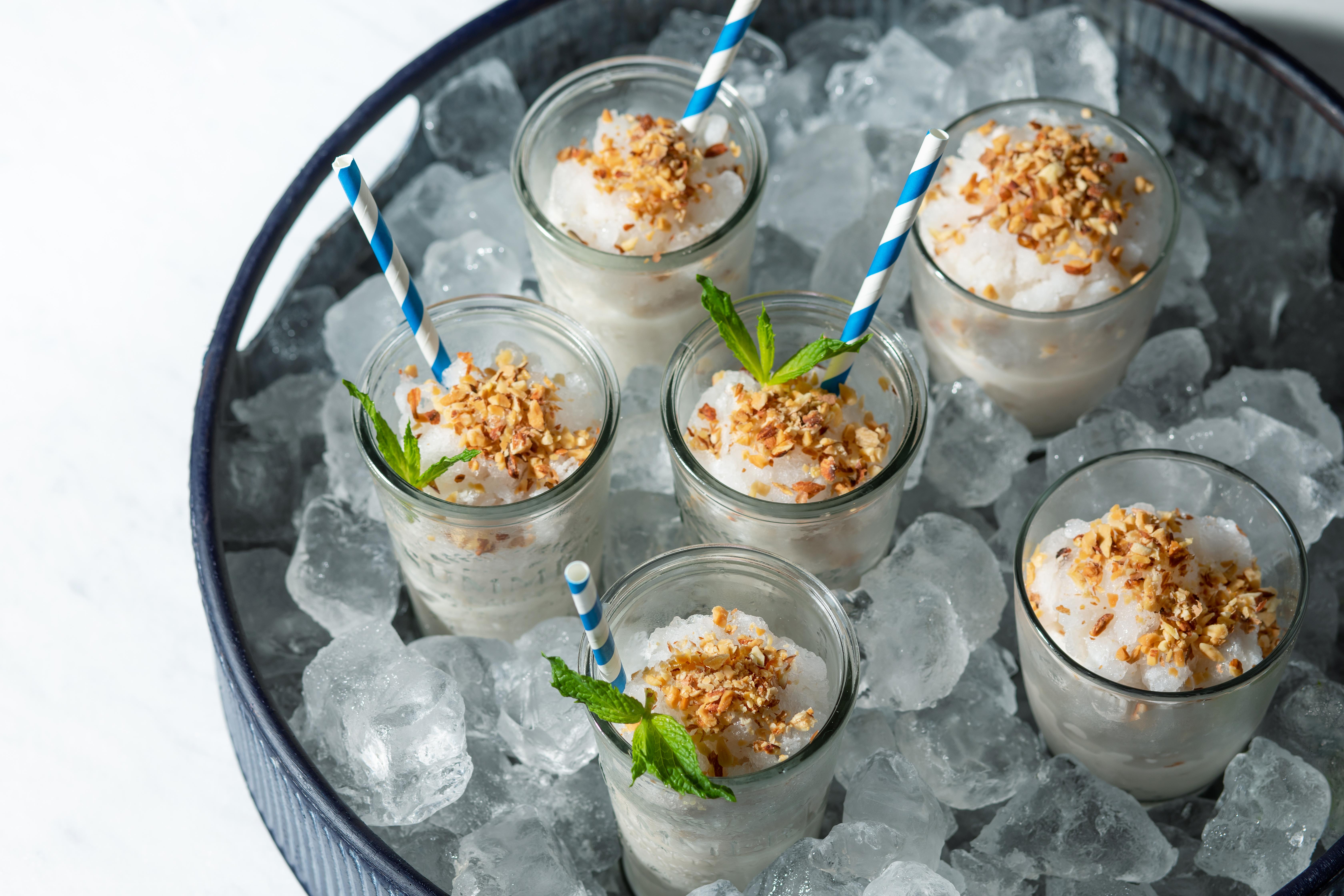almond milk slushie
